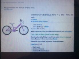 Girls Brand new still boxed bike,