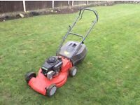 Petrol lawnmower good working order . Just moving home and smaller lawn ..