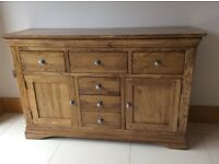 Large Oak Sideboard with 2 doors and 3 drawers