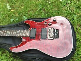Electric Guitar Schecter Damien Elite FR, Damien Series (Black Cherry)
