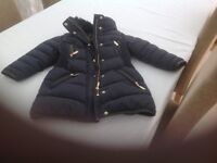Smart navy coat for age 3/4 new condition