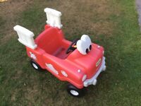 Little Tikes sit in fire engine