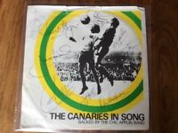 The Canaries in song Single signed by the 1972 Div 2 winning team