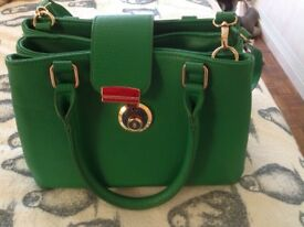 Bright green sainsburys bag