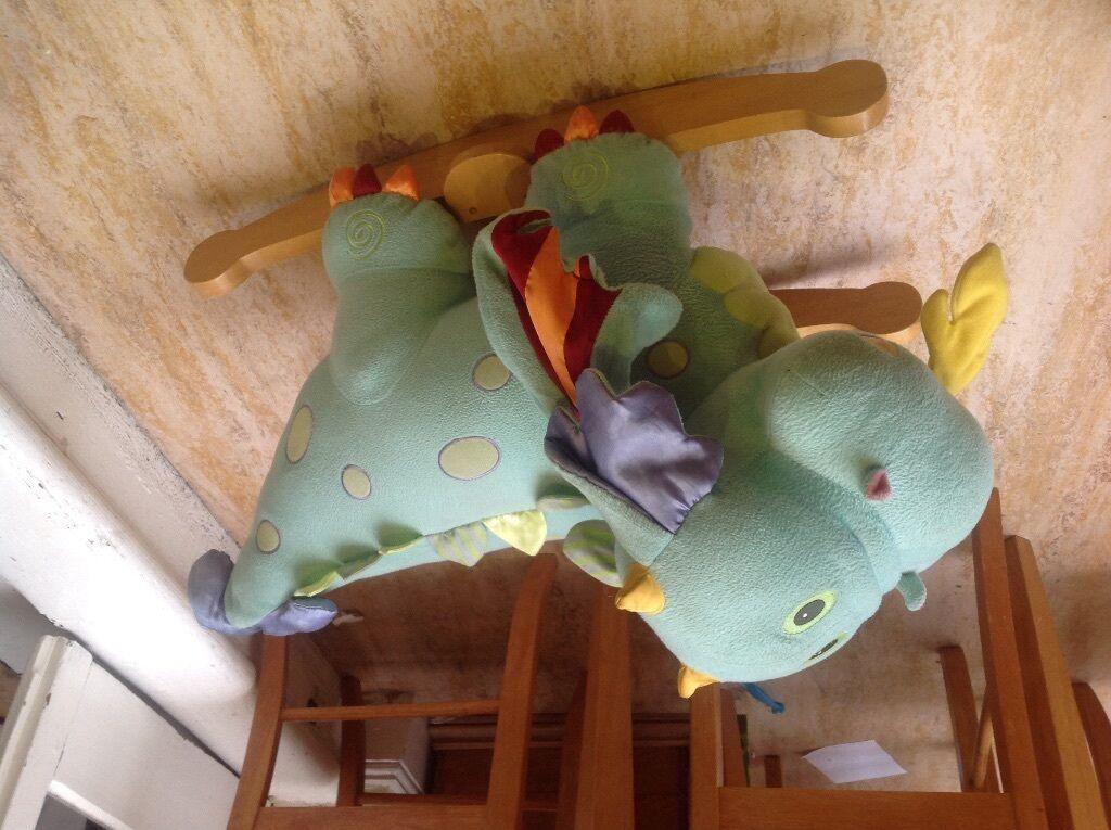 Elc Dragon Rocker Wooden In Oval London Gumtree