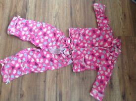 Bundle of 4 girls pyjamas 3-4 (monsoon, hello kitty, debenhams and supermarket)