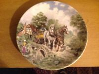 Numbered plates with rural scenes