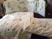 Olive and henri cot bedding set.