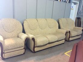 Compact sofa fabric 3 seater, 2 seater & power recliner chair