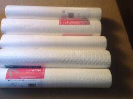 5 rolls pf anaglypta wallpaper