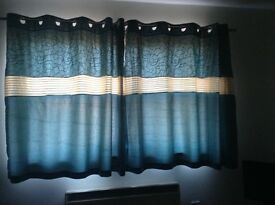 Teal Curtains