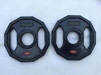 4 x 1.25kg Jordan Dual-Grip Olympic Rubber Weights