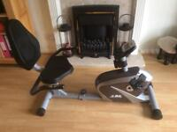 JLL RE100 Recumbent Home Exercise Bike - Nearly New - pick up only