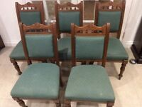 Vintage solid oak dining room or kitchen chairs