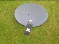 Sky satellite system including dish and 2 had plus boxes