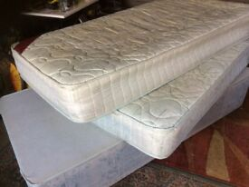 Single bed base and two single mattresses
