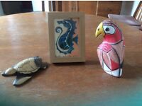 Characterful animal ornaments