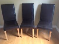 Set of eight dining chairs
