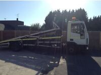 Eurocargo recovery truck for two cars