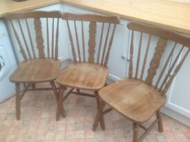 Three Kitchen Chairs. SOLD
