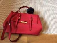 Red Kelly bag and real leather gold bag