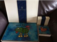 Set of 6 Jane Brookshaw table mats & coasters.