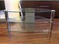 Glass TV stand (3 tier)
