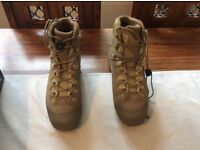 Haix Desert Scout Boots. UK size 9 boxed includes pair of merino wool liner socks.