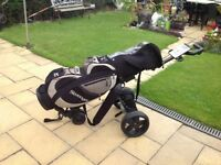 Golf clubs. Plus bag... electrical trolley with charger .£60 ono. See photos