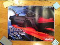 Rare! Back To The Future 30th Anniversary Poster From Film & Comic Con London