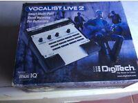 Digitech vocalist. Live 2 effects