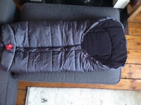 Kaiser footmuff dark grey,barely used, only selling as does not fit pushchair