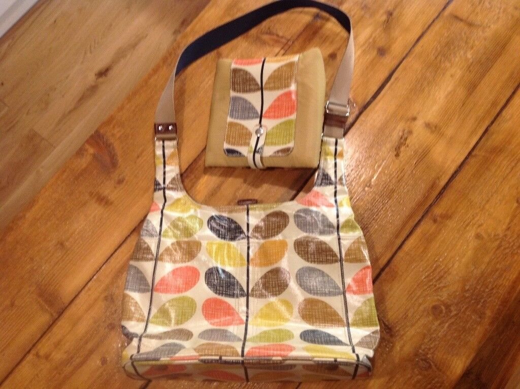 Orla Kiely Baby Changing Bag with Matching Mat