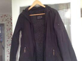 River Island Parka coat, black,size 10