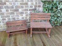 Mini garden benches