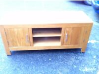 solid wood chunky tv stand
