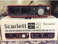 Focusrite Scarlett 2i2 Usb Computer Audio Interface