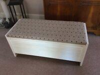 Wooden Blanket Box/Ottoman
