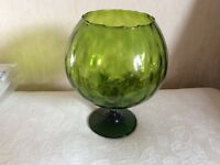 A Large Green Glass Goblet.