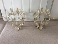 Two vintage style light shades