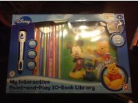 Disney Interactive point and play library books. Excellent condition