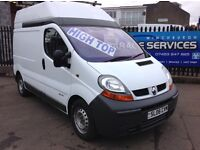 2006 RENAULT TRAFIC 2,5 HIGH TOP *STUNNING CONDITION * LOW LOW MILES ONE OWNER 2x KEYS PLY LINED!!!!