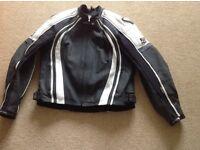 Xl Frank Thomas Leather Motorcycle Jacket