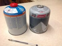 2 Camping gas canisters
