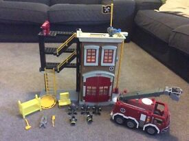 Imaginext Fire Station & Fire Engine