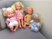1970's Tiny Tears and 3 friends...