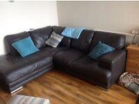 DFS-GLOW leather corner sofa