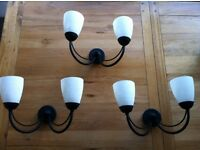 Lights: 3 wall lights in immaculate condition