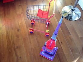 Children's Shopping trolley and dyson Hoover