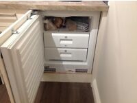 Hoover intergrated under counter fridge and freezer